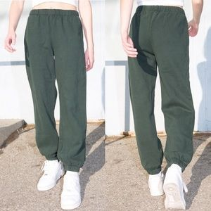 Brandy Melville Forest Green Joggers